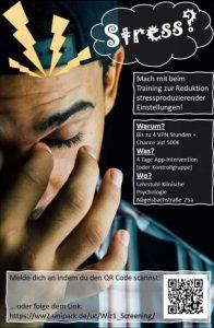Flyer zu einem Training zur Stressreduzierung